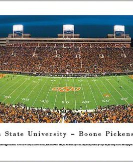OSU Boone Pickens Stadium Night Panoramic Print