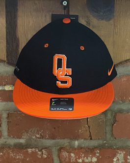 "Nike OSU Black and Orange ""OS"" Hat (Fitted)"