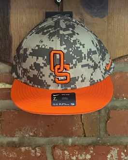 "Nike OSU Digital Camo/Orange Bill ""OS"" Hat (Fitted)"