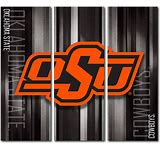 OSU Cowboys Canvas Wall Art Rush Design (48×54 Triptych)