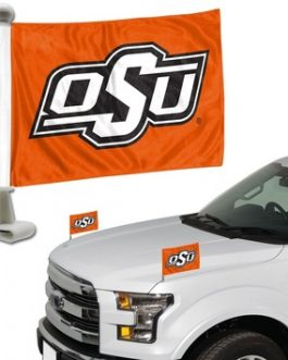 OSU Cowboys Ambassador Car Flag Set of 2