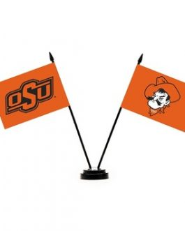Oklahoma State Cowboys Desk Flag Set