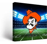 OSU Cowboys Canvas Stadium Wall Art (18×24)