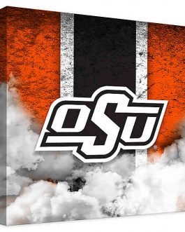 OSU Cowboys Canvas Banner Wall Art Vintage (12×12)