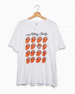 New! LivyLu Rolling Stones Cowboys Multi-Lick T-Shirt