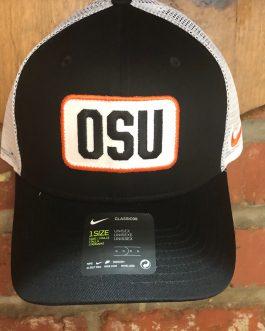 Nike Black OSU Patch Trucker Hat
