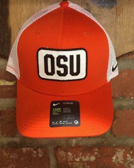 Nike Orange OSU Patch Trucker Hat