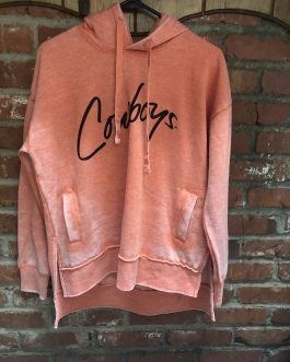 "New! LivyLu ""Cowboys"" Sisterhood Orange Poncho Hoody"